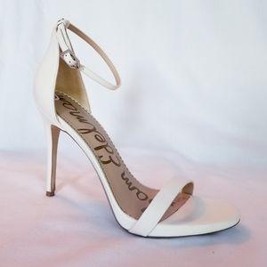 Sam Edelman Strappy White Leather Heels